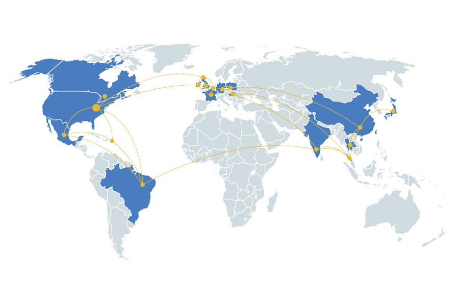 Engineered Products' footprint
