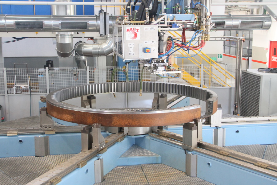 Automatic Induction Slewing Rings Heat Treat System On Index Table and Gantry Machine